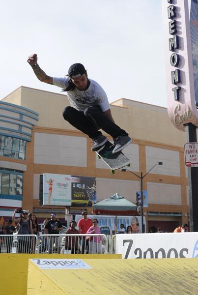 Adam Dyet Kickflip Meron at Vegas