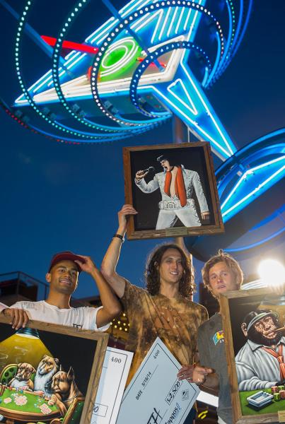 Evan Smith, Tommy Fynn, and Sebo Walker in Vegas