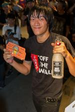 Wang Guo Hua won Best Trick with a 360 flip 5-0 on the hubba.