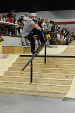 Jamie Foy is good. Here he is doing a fakie nosegrind.