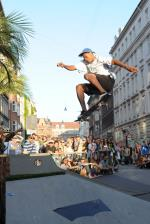 Ishod did a frontside 360 over it. Damn!