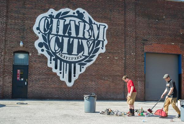 Jason Chapman and Son at Charm City Recycle