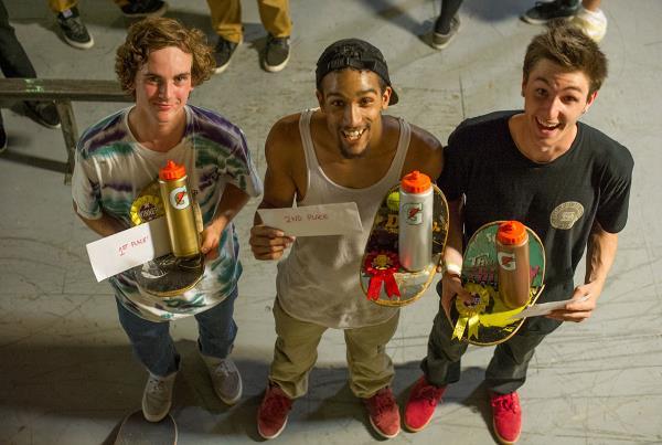Tyler, Tyrone, Ben at Charm City Skatepark Maryland