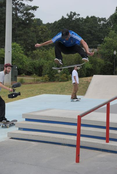 Jake Donnelly Frontside Flips at adidas Skate Copa Atlanta