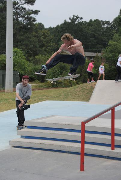 Dennis Busenitz Frontside Flips at adidas Skate Copa Atlanta