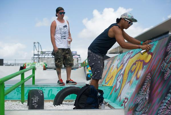 ERThink Artist on the X Games Course