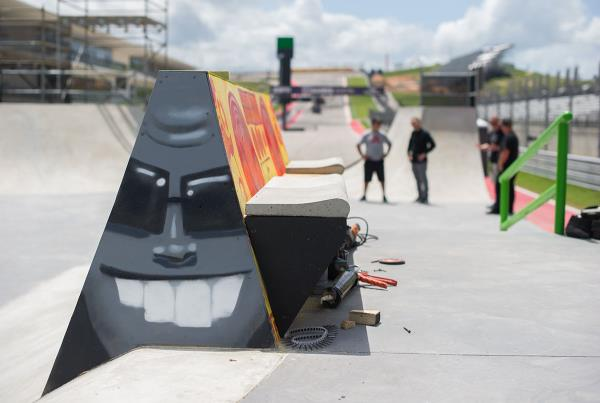 Bench With Pool Coping X Games Austin Course