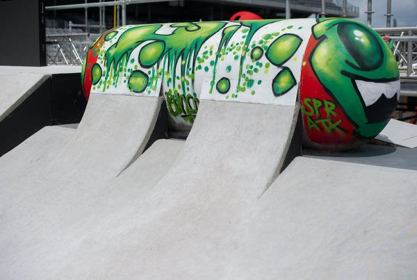 Skateable Tank at X Games Austin Course