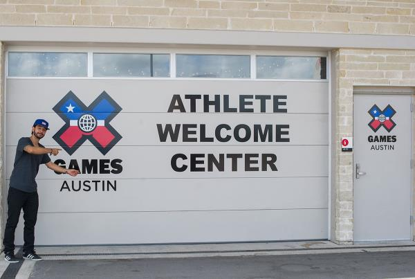 Athlete Welcome Center at X Games Austin Course