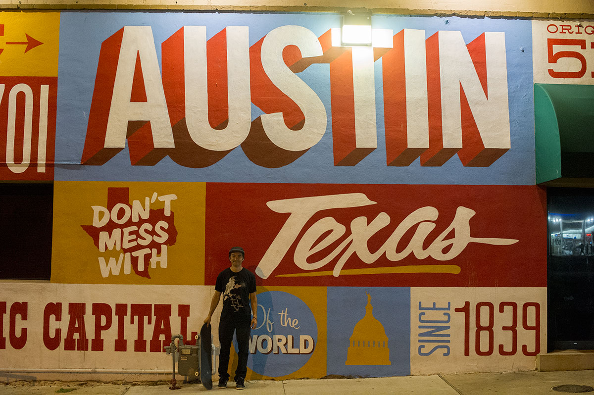 Tourist Photo Rob Meronek in Downtown Austin