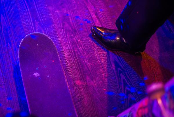 Friends Bar Big John Shoes in Downtown Austin