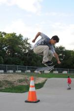 Brandon Lopez Hardflip at Austin, Texas. Brandon Lopez Photo
