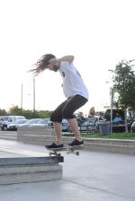 Guru has always ripped and still does today. That's a nollie backside 180 to switch frontside 50-50.