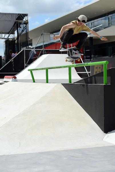 Alexis Sablone Kickflip at X Games Austin 2014