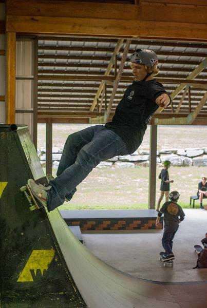 Jamie Foy at Woodward Skateboard Camp