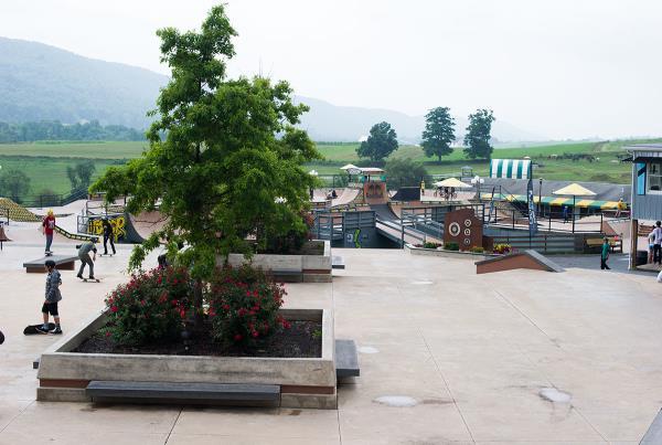 Street Plaza at Woodward Skateboard Camp