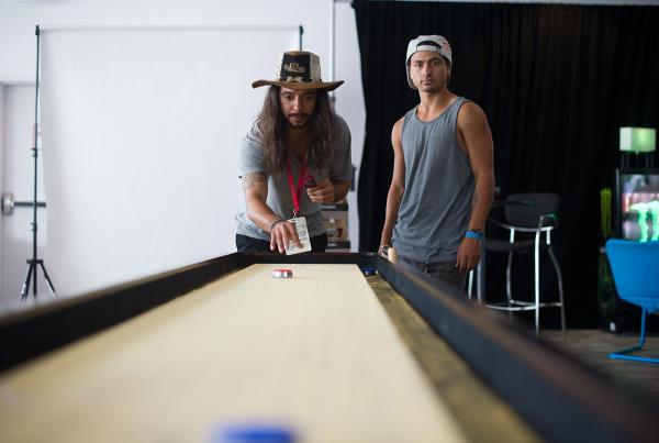 Shuffleboard in the X Games Lounge