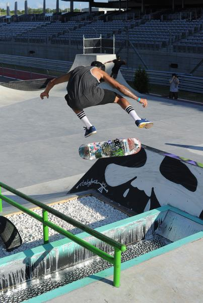 Nyjah Huston Backside Flip at X Games