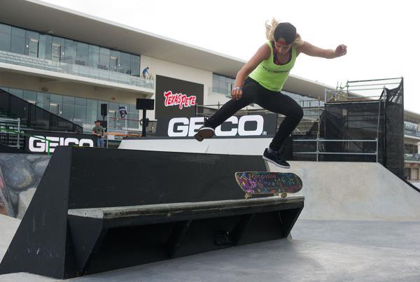 Alana Smith Kickflip 50-50 at X Games Austin