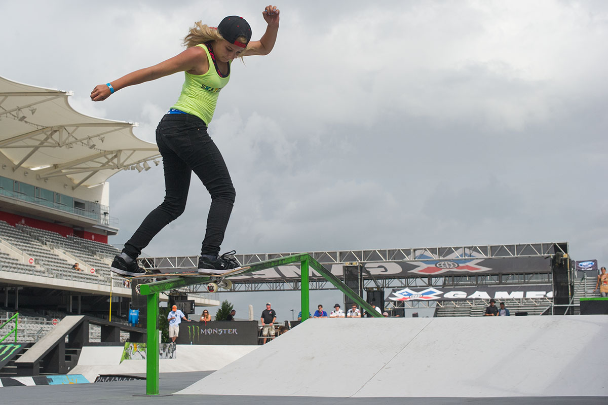 Alana Smith Backside Lipslide at X Games Austin