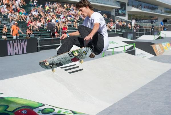 Tyson Bowerbank Frontside Ollie at X Games