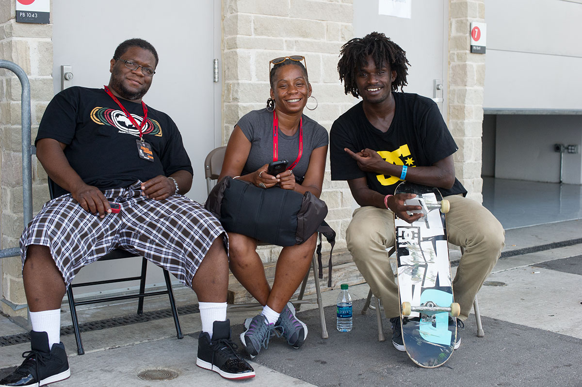 Cyril Jackson and Family at X Games Austin