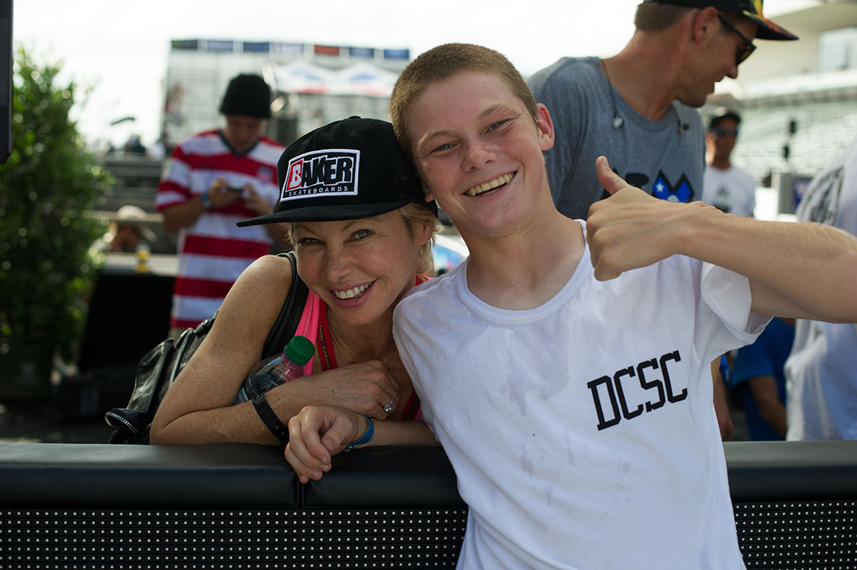 Tristan Funkhouser and his Mom at X Games Austin