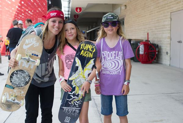 Leticia Bufoni and Fans at X Games Austin