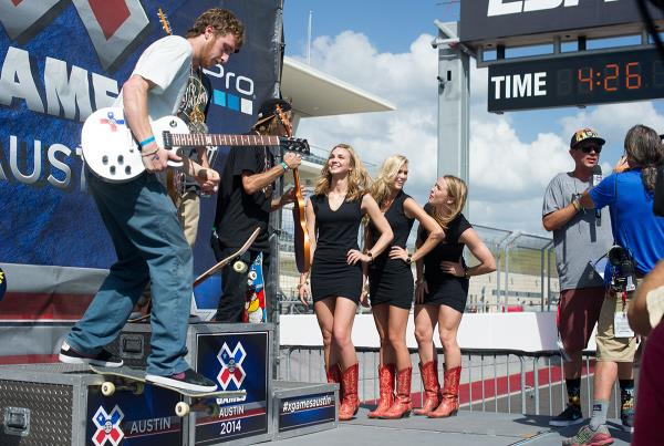 Grant Taylor on the X Games Podium