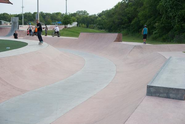 Pflugerville Skate Park Outside Austin Texas Snake Run