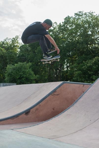 Pflugerville Skate Park Joe Pelham Backside Flip