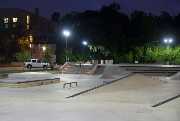 House Park in Austin is Lit