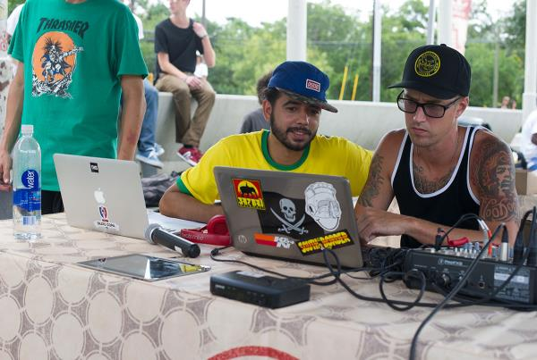 Porpe and DJ AK at Skate Copa Austin