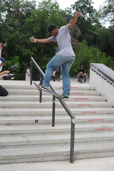 Garrett Young Frontside Bluntslide at Skate Copa Austin
