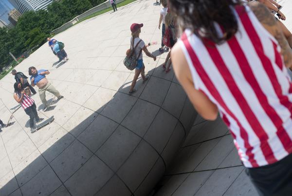 Chicago Tourism Reflector Thing Truffle Shuffle