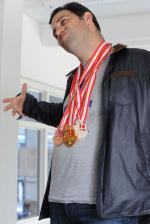 Giovanni Reda Wins Gold, Silver, and Bronze
