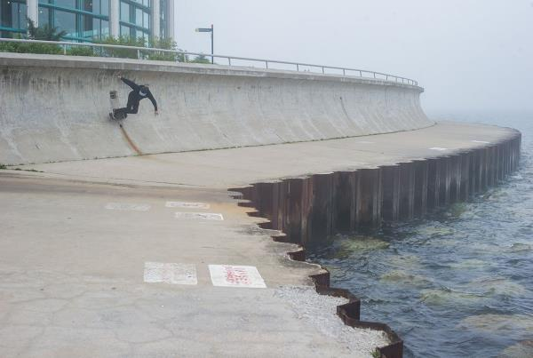 Rob Meronek Seawall Carve in Chicago