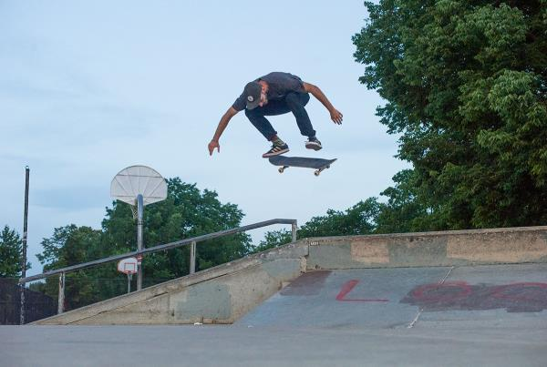 Southside Skatepark Kickflip in Chicago