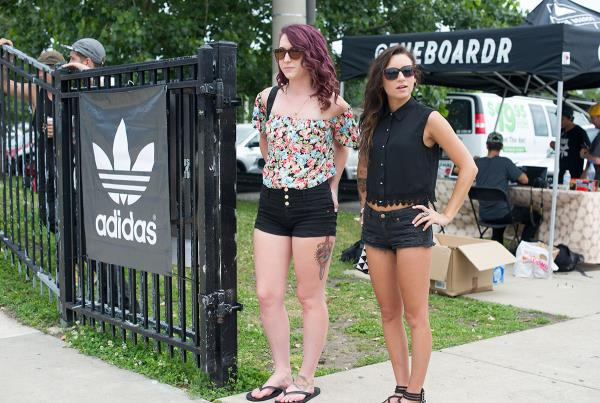 Girls at a Skateboard Contest at adidas Skate Copa