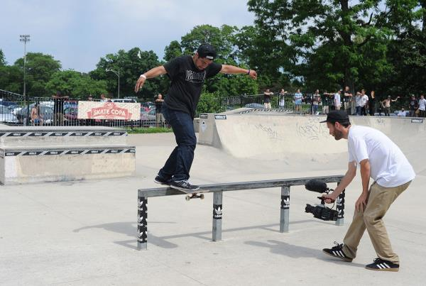 Front Board Kickflip Out at adidas Skate Copa Chicago