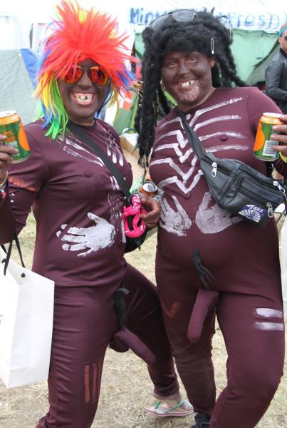 Roskilde Music Festival 2014 Painted Penis People