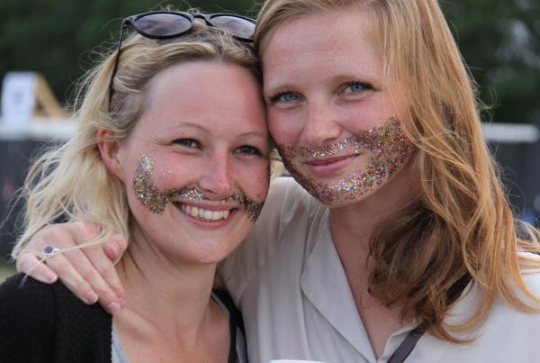 Roskilde Music Festival 2014 Glitter Beard