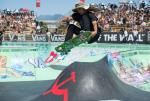 Cody Lockwood with a frontside tailgrab over the small hip.