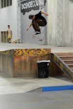 Christian Dufrene was one of the first skaters to arrive from Rukus Skate Shop who qualified for Finals. Here is a hardflip.