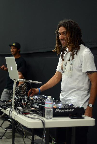 DJ Swiss Dreads at adidas Skate Copa Berrics