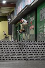 Here is another big trick from the little dude. Vincent Nava had no problem with this kickflip frontboard.