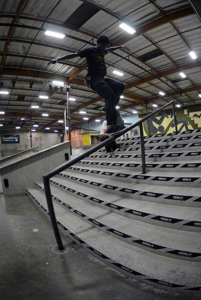 Tre Williams N F Crook at adidas Skate Copa Berrics