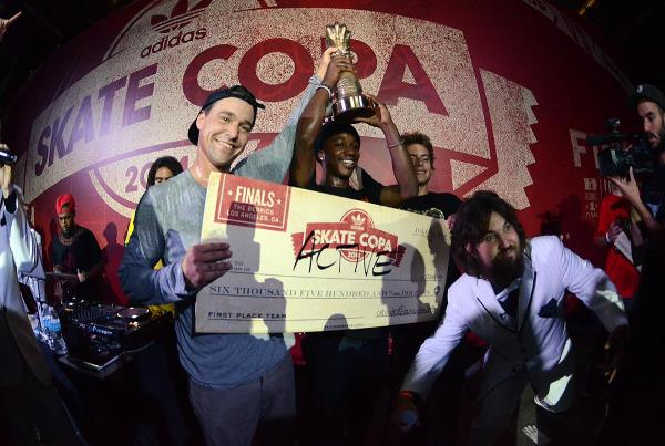 Active Wins the FInals at adidas Skate Copa Berrics