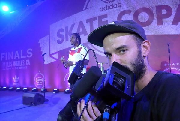 Pusha T and HiDefJoe at adidas Skate Copa Berrics