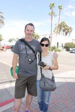 Ed Templeton and Deanna in Huntington Beach
